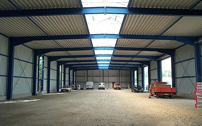 Verwaltungsgebäudes mit Lagerhalle und Schlosserei in Lauf, Industriestraße
